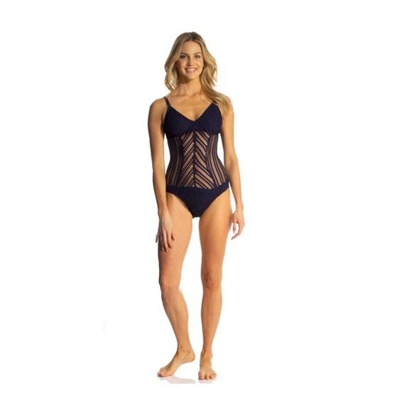 ae4b9135ef Robin Piccone Swim   Sophia Mitered One Piece Suit   Poshmark